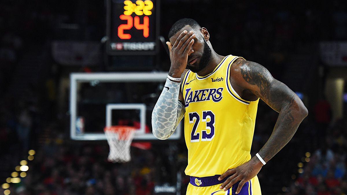 «Лейкерс» уступили «Портленду», несмотря на 29 очков Леброна