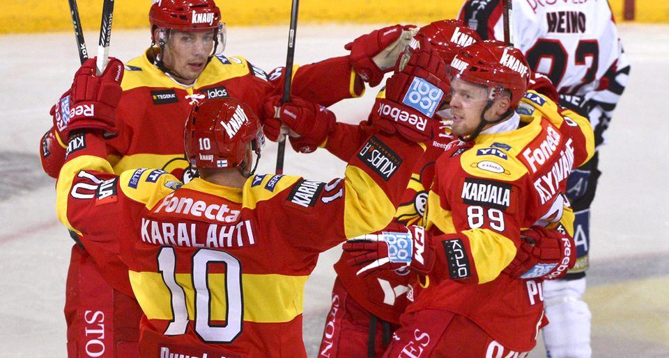 «Йокерит» крупно обыграл «Витязь» в матче регулярного чемпионата КХЛ