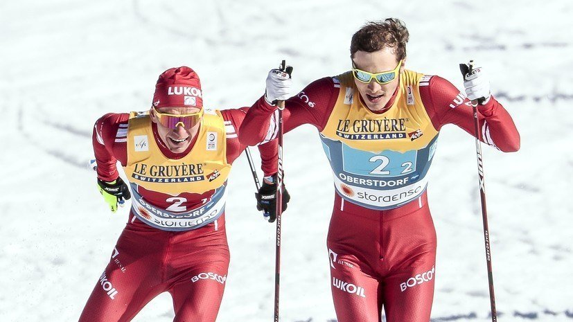 Большунов объяснил, почему не поговорил с Ретивых сразу после финиша в командном спринте на ЧМ