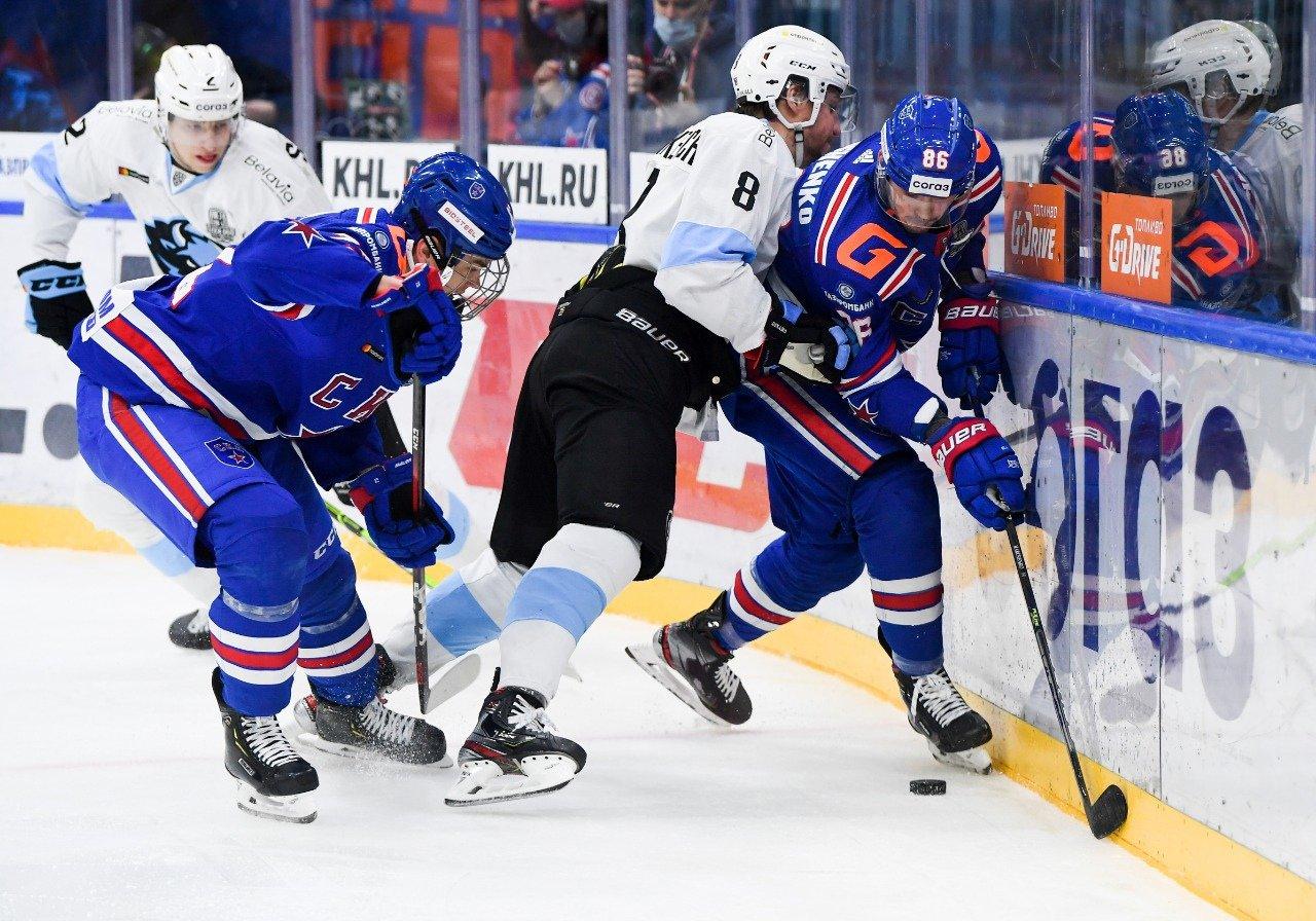 СКА победил минское «Динамо» в первом матче серии Кубка Гагарина