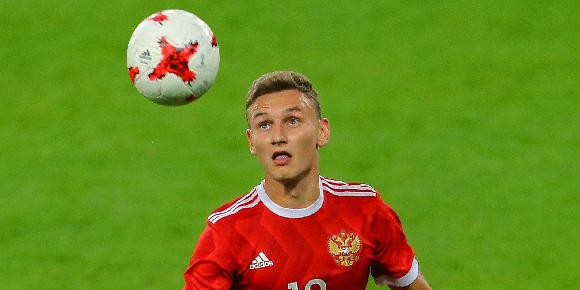 Максименко и Чалов – в стартовом составе сборной России на матч с Исландией на молодежном Евро
