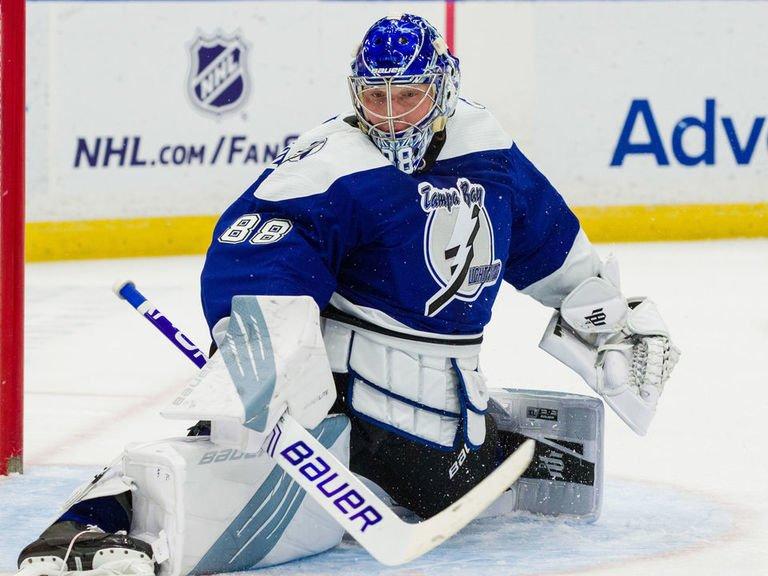 Василевский стал третьим голкиером в НХЛ, которому одержал 20 побед минимум в 24 матчах