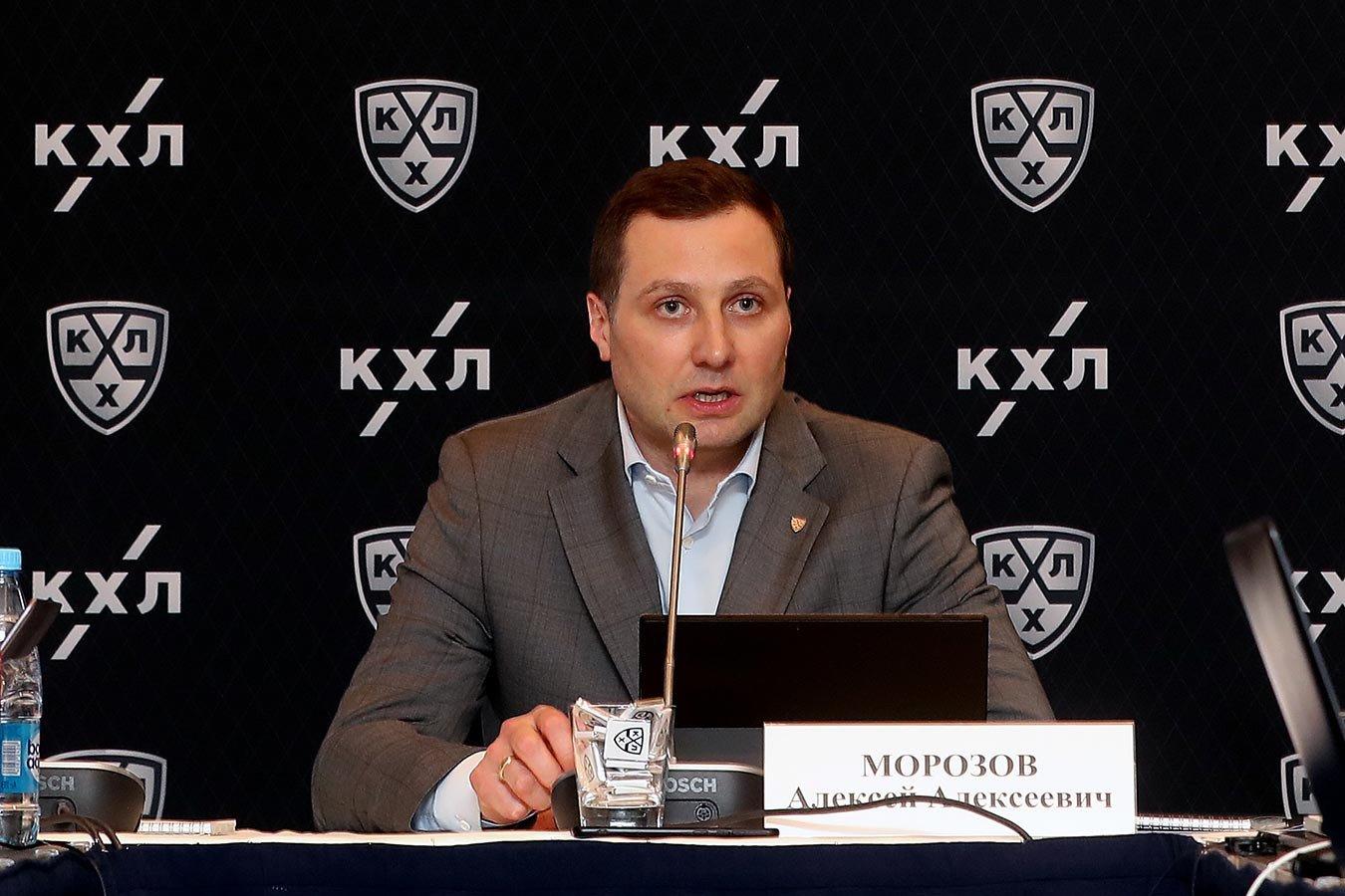 Президент КХЛ Морозов прокомментировал ситуацию с капитаном «Авангарда» Емелиным