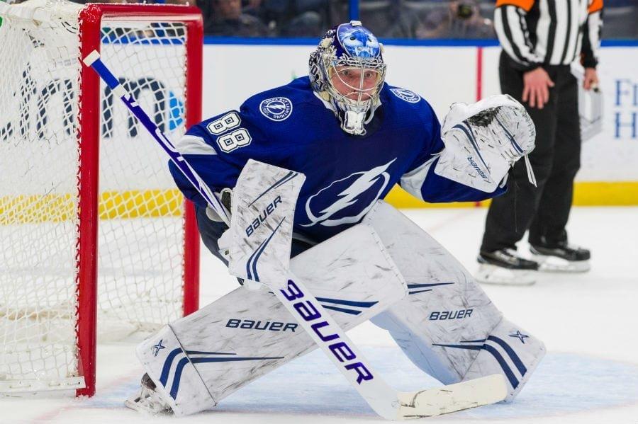 Василевский одержал 30-ю победу в сезоне с «Тампой» и вошел в историю НХЛ