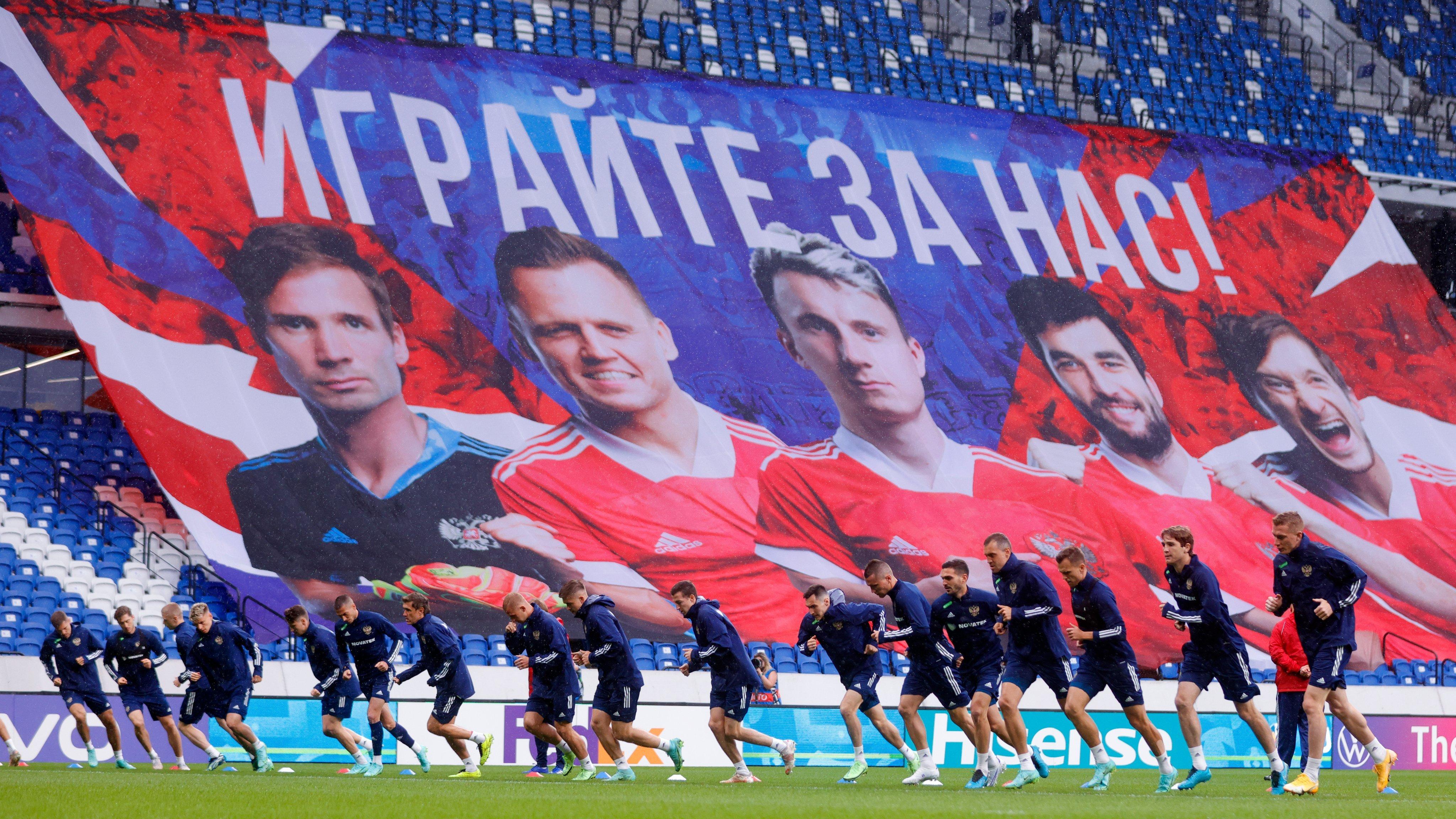 Кузяев, Дивеев и Кудряшов тренируются в общей группе перед матчем с Финляндией на Евро-2020