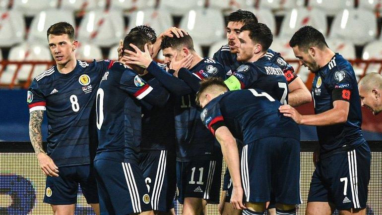 Футболисты сборной Шотландии не будут вставать на колено перед матчами Евро-2020