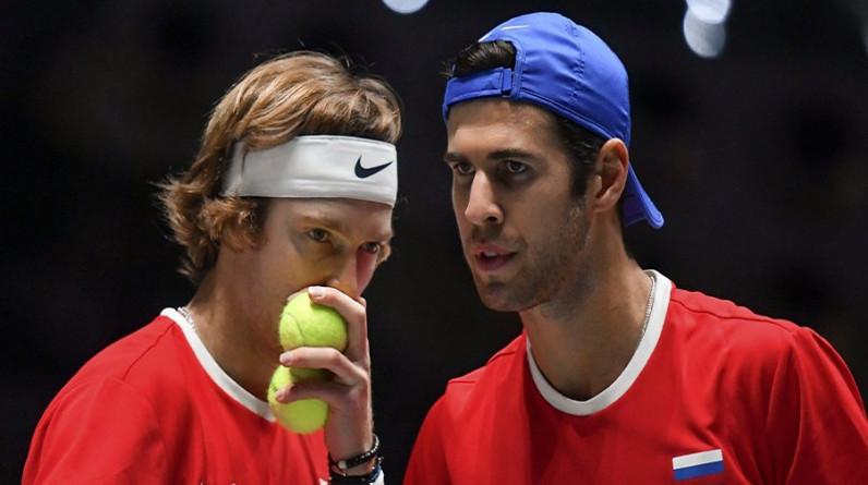 Рублев и Хачанов проиграли на старте парного олимпийского теннисного турнира